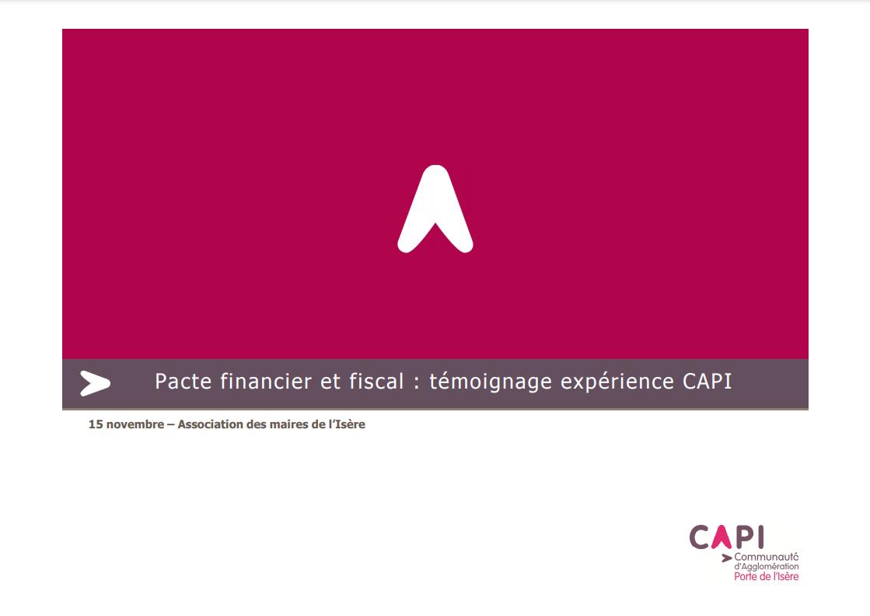 Témoignage CA Porte de l'Isère (PFF)