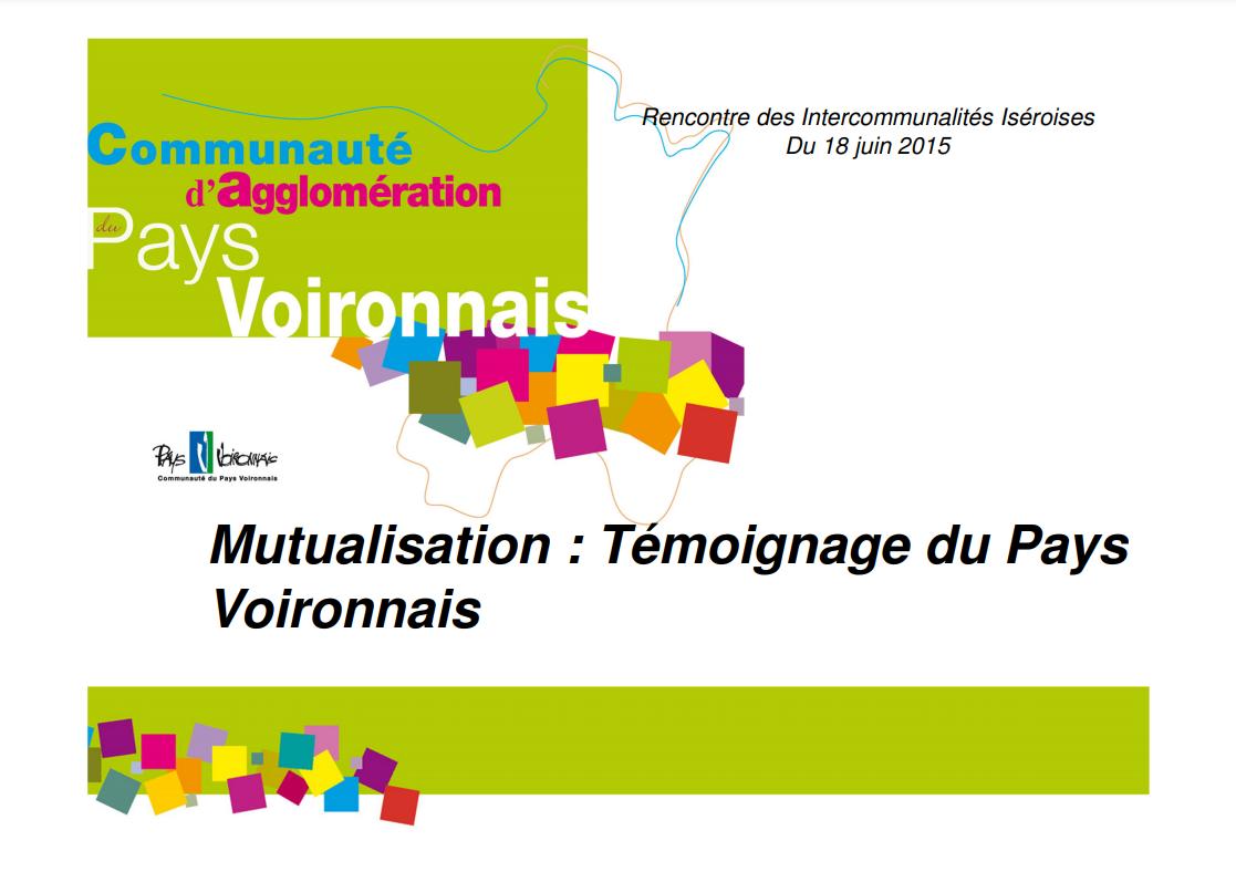 L'exemple de la Communauté d'agglomération du Pays Voironnais