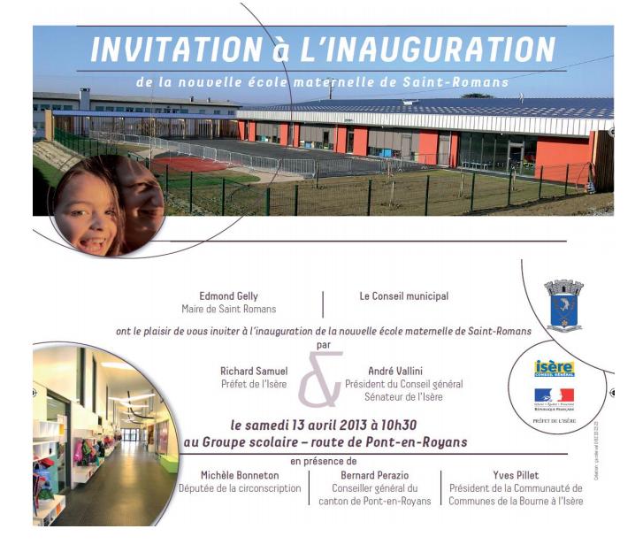 Carton Invitation St Romans (école)