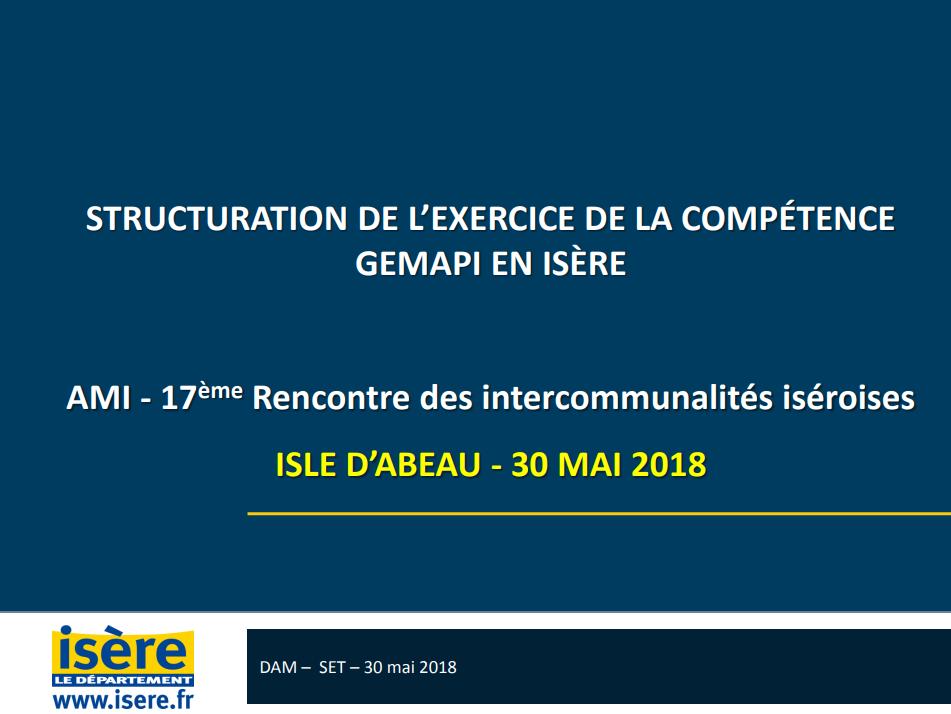 Structuration de l'exercice de la compétence Gemapi en Isère