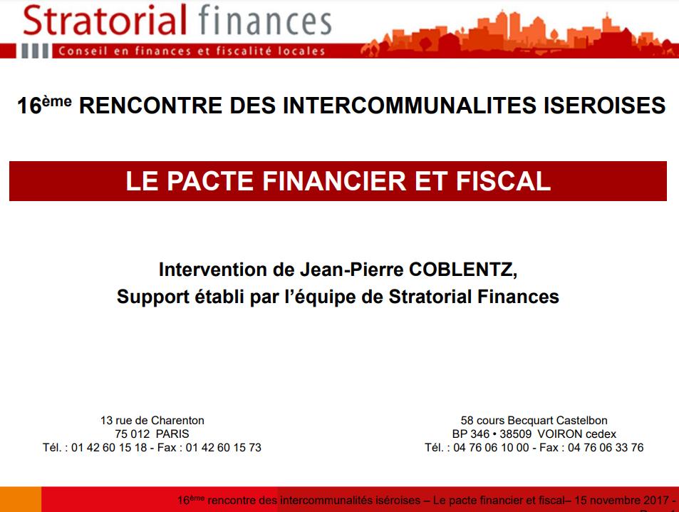 Quel pacte financier et fiscal ? (Stratorial finances)