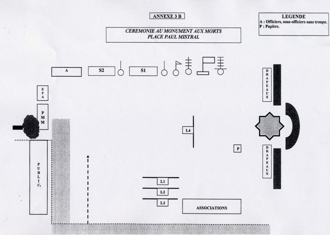 Plan Monument aux morts 8 mai