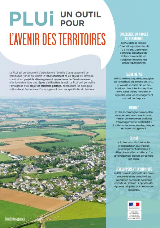 Plaquette du Ministère du Logement : PLUi, un outil pour l'avenir des territoires